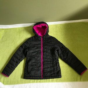 Lands End lightweight quilted hoodie jacket  10-12
